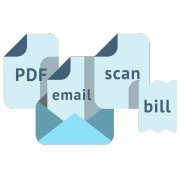 Submit invoices and receipts to Datamolino through web or email
